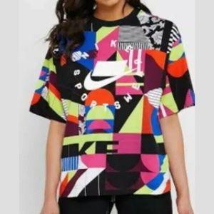 Nike Sportswear Multicolor Print 90s Oversized Tee